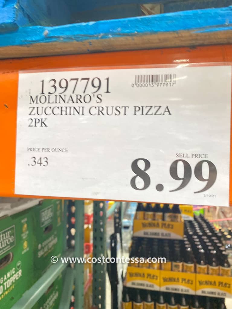 Costco Molinaro's Pizza Crust Kit is just the thing for those looking for gluten free pizza-making made easy! Each gluten-free zucchini pizza kit contains crust and gourmet sauce pouches.