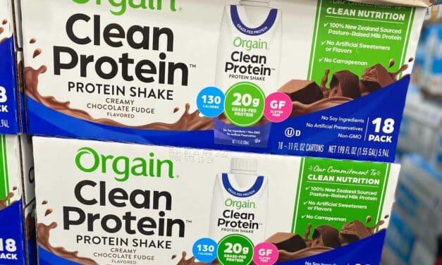 130 Calorie Costco Orgain Clean Protein Shakes