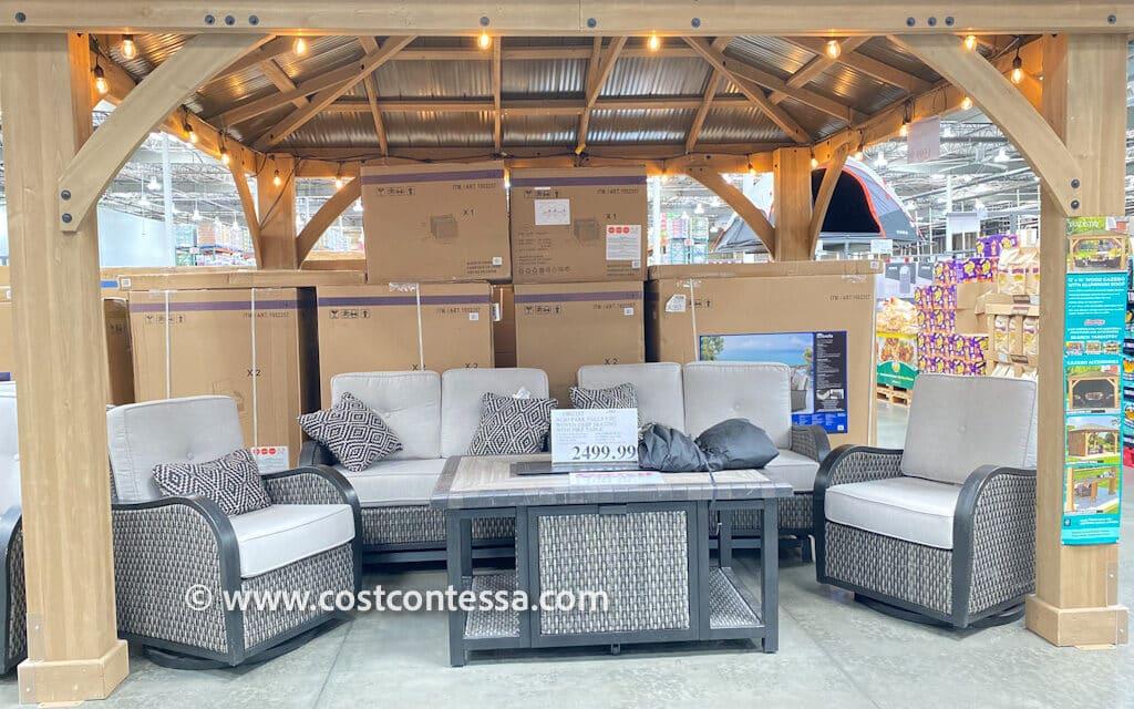 5 Piece Costco Patio Furniture Fire Pit Set