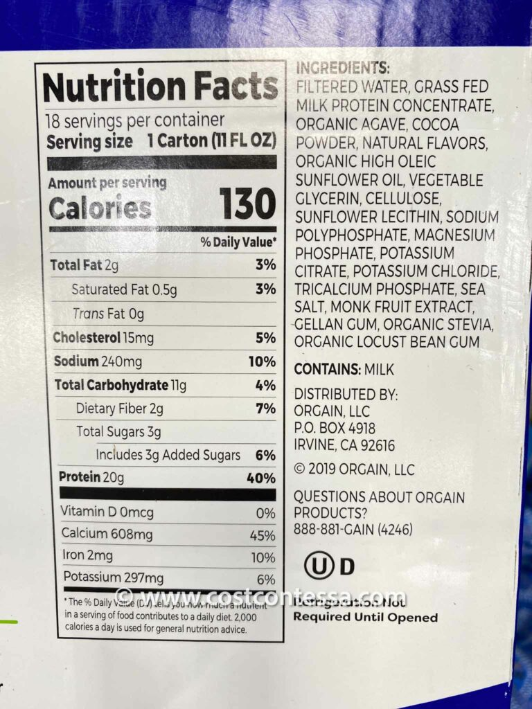 Orgain Clean Protein Shakes are Non-GMO, and don't contain artificial sweeteners or preservatives
