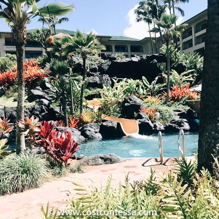 CostContessa Costco Travel Review: Grand Hyatt Kauai - Waterslide at the Pool Area
