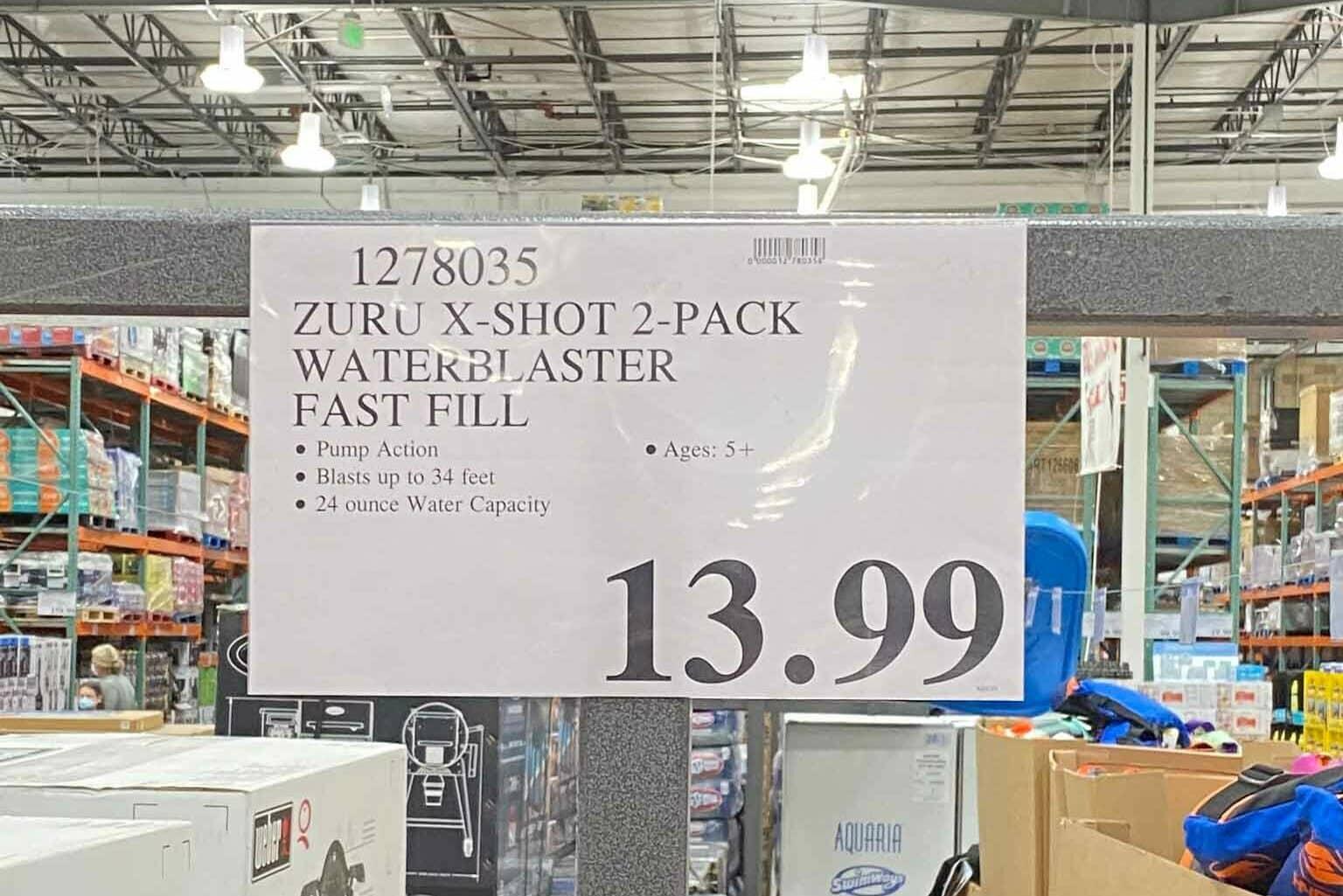 Zuru X-Shot 2-Pack Waterblaster Fast Fill Costco Water Guns $13.99