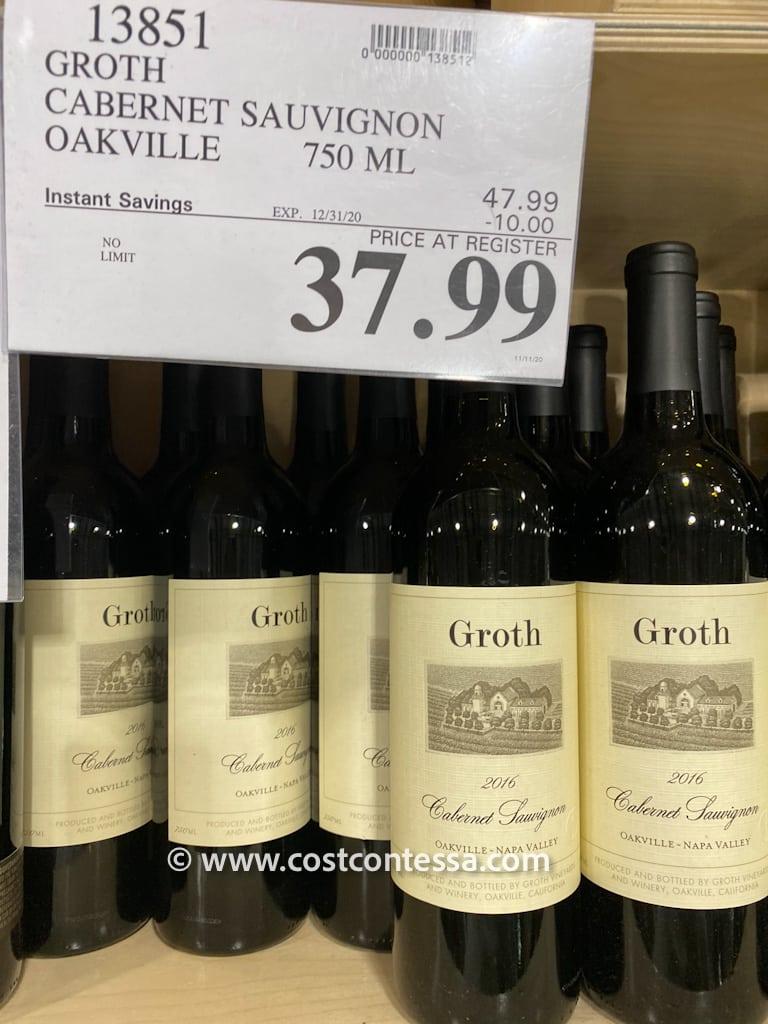 Costco Wine - Groth Cabernet Sauvignon - Sale $10 Off