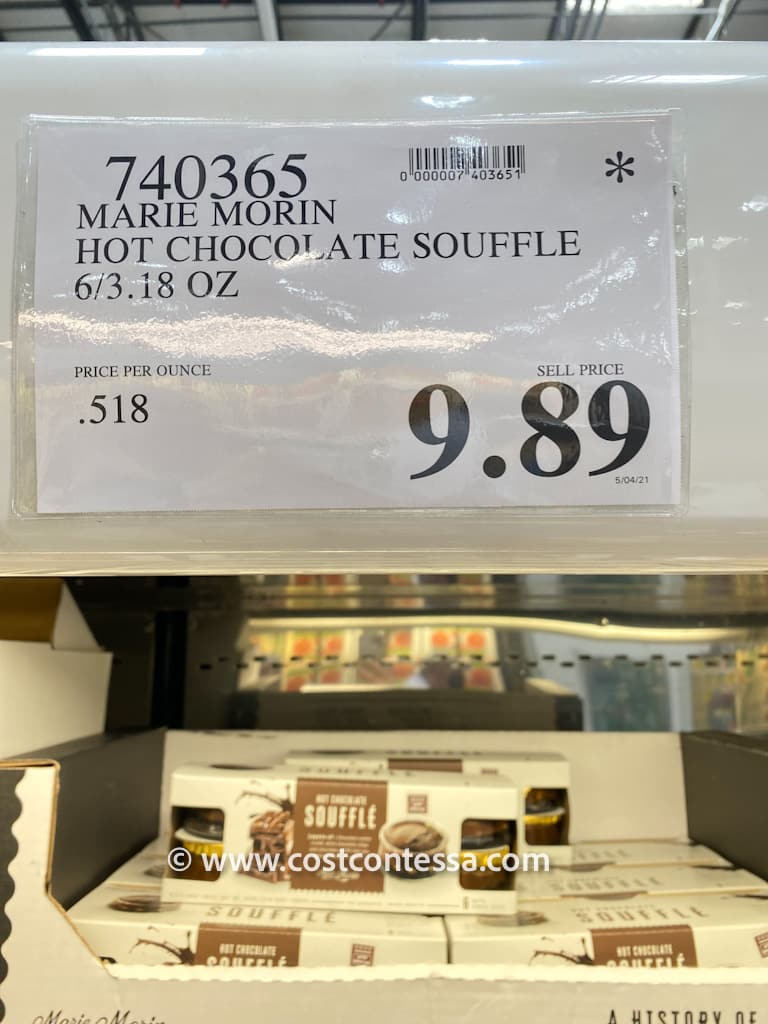 Marie Morin hot chocolate soufflé at Costco