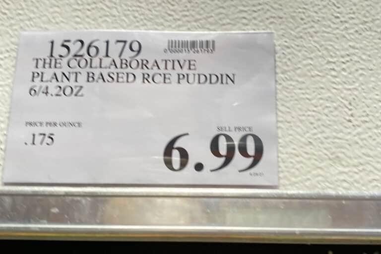 The Collaborative Vanilla Rice Pudding at Costco - Vegan, Gluten Free, Non-GMO - Price Tag - Costco Item 1526179 $6.99