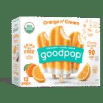GoodPop Orange n' Cream Vegan Popsicles at Costco