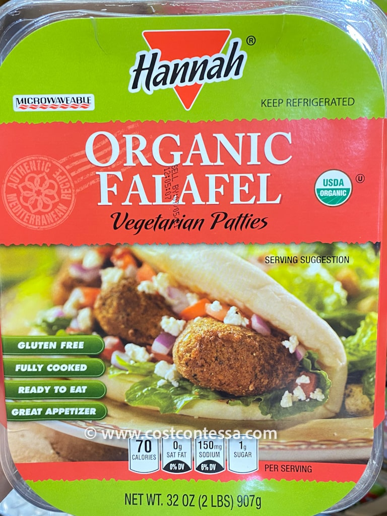 New at Costco Organic Falafel! Gluten Free, Vegetarian, Authentic Mediterranean Recipe - Fully Cooked - Find them in the Prepared Food Section!