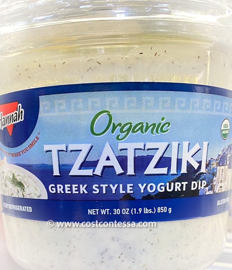 New at Costco! Organic Tzatziki Cucumber Greek Yogurt Dip from Hannah Foods