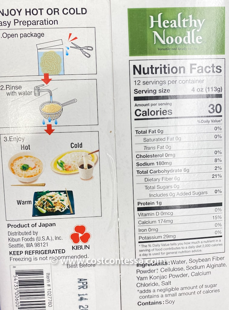 Costco Healthy Noodle are Vegan, Keto, Gluten Free and Have Just 30 Calories Per Serving! - Versatile Ready to Use Noodles at Costco are Cholesterol Free, Sugar Free, Fat Free, Dairy Free & Diabetic Friendly!
