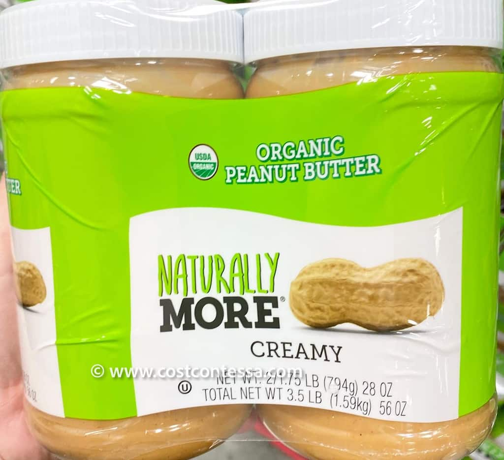 Naturally More Organic Unsweetened Creamy Peanut Butter 2-pack at Costco