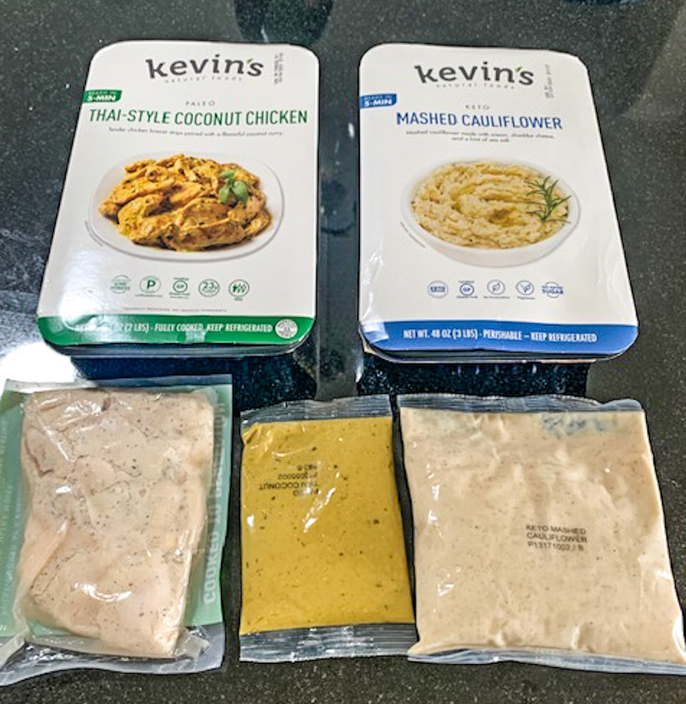 Costco Keto Meal Idea - Kevin's Natural Foods Coconut Chicken & Mashed Cauliflower Review! Gluten Free