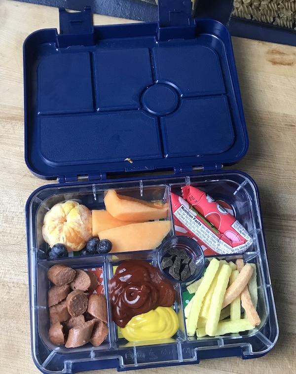 Healthy-ish School Lunch Idea - Hotdogs!