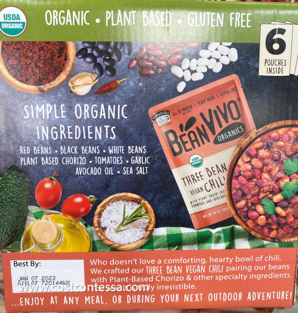 Vegan Chili at Costco - New 3-Bean Chili from BeanVivo is organic and gluten free!