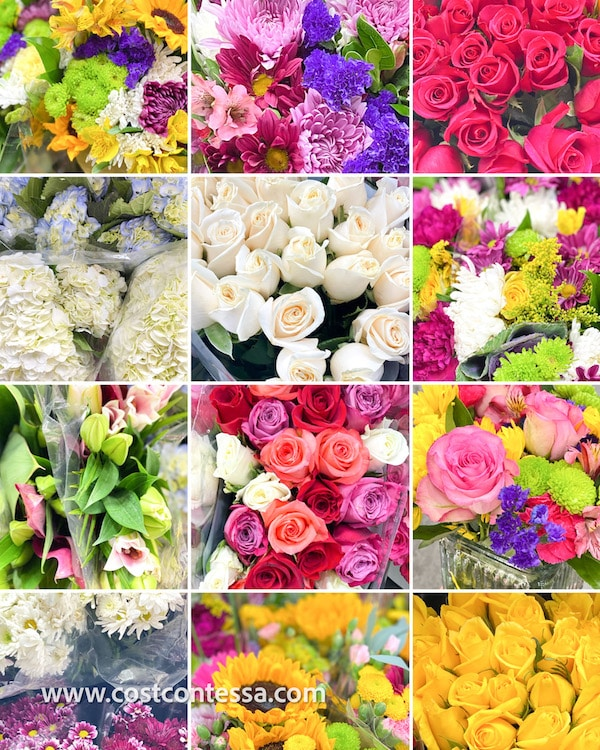 fresh flowers at costco