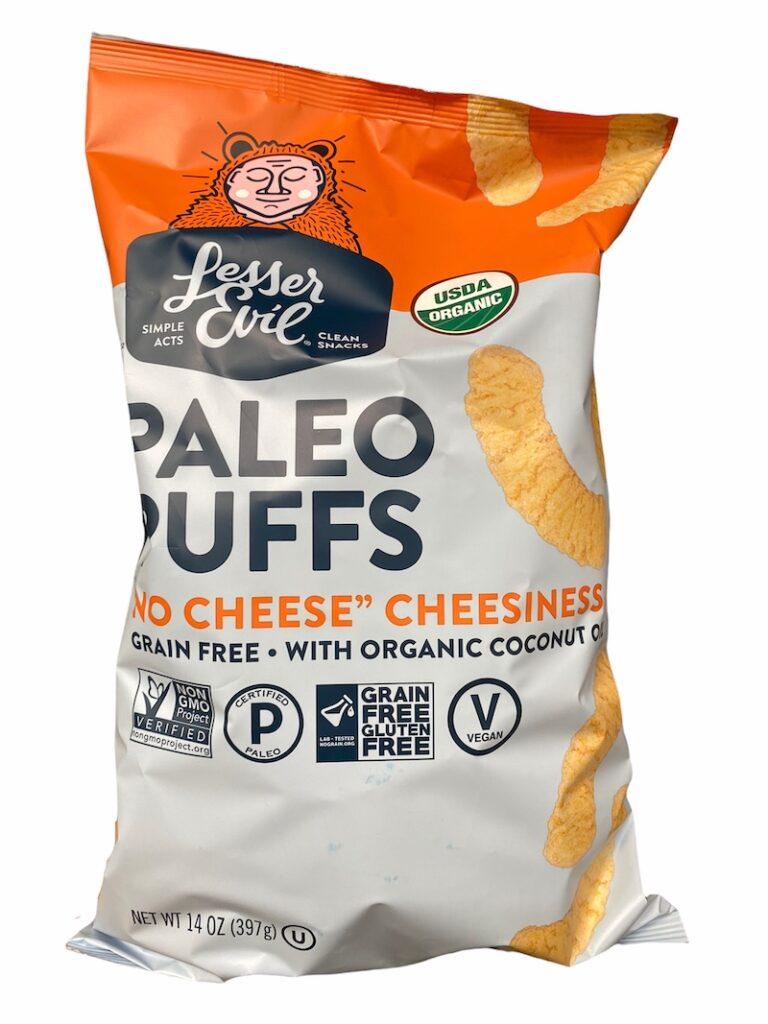 No Cheese Cheesiness Lesser Evil Paleo Puffs at Costco - CostContessa