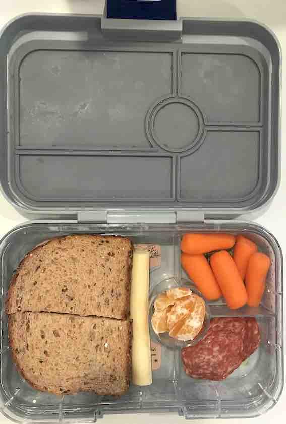 Healthy School Lunch Ideas- Ham Sandwich Lunchbox