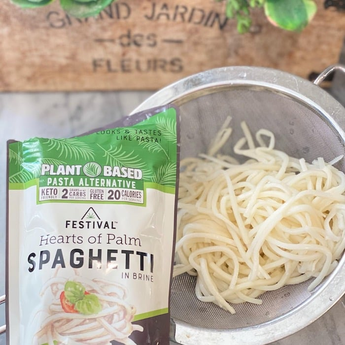 Hearts of Palm Spaghetti at Costco