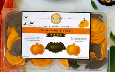 Costco Halloween Themed Pumpkin & Bats Ravioli from Nuovo