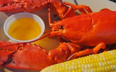 Lobster with clarified butter for dipping